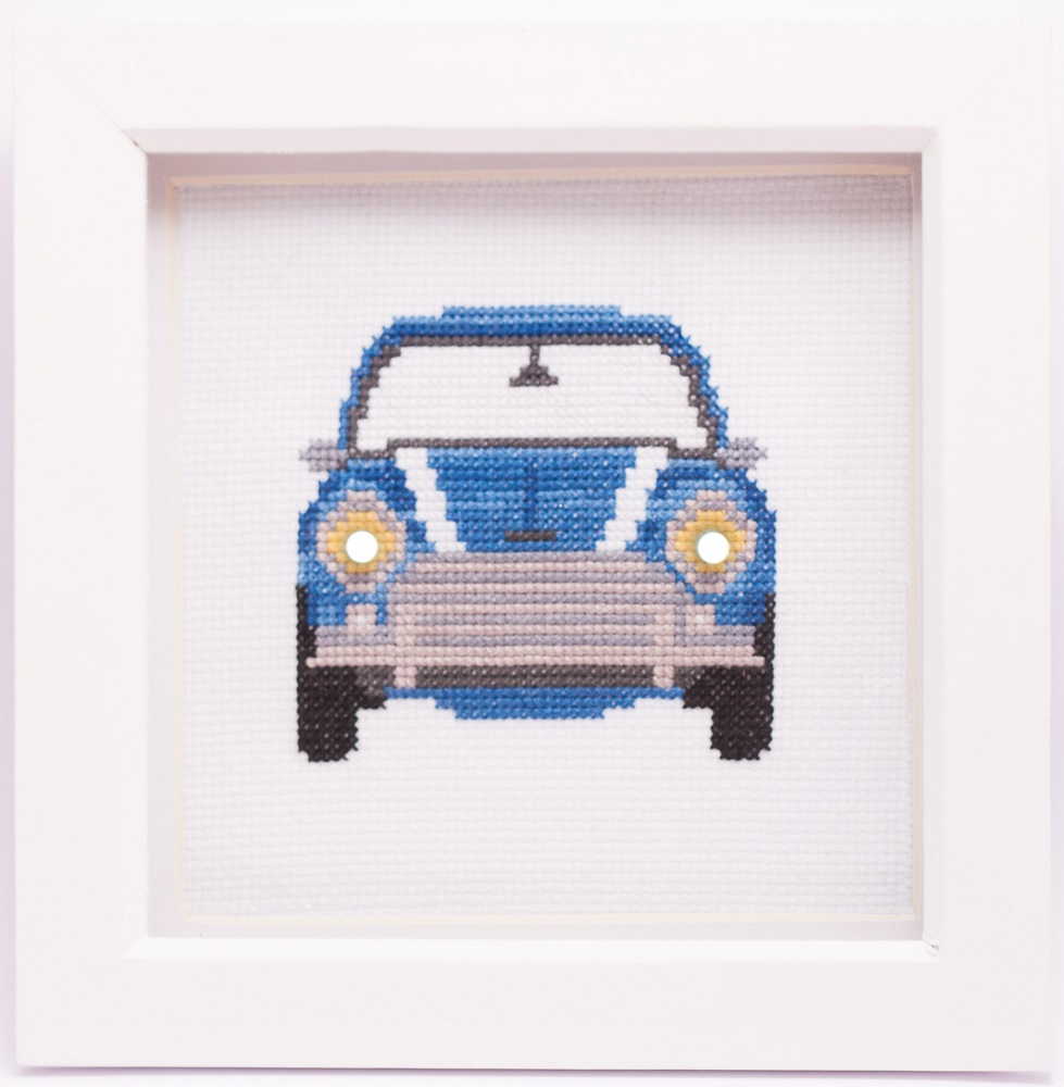 pimped up mini cross stitch kit image