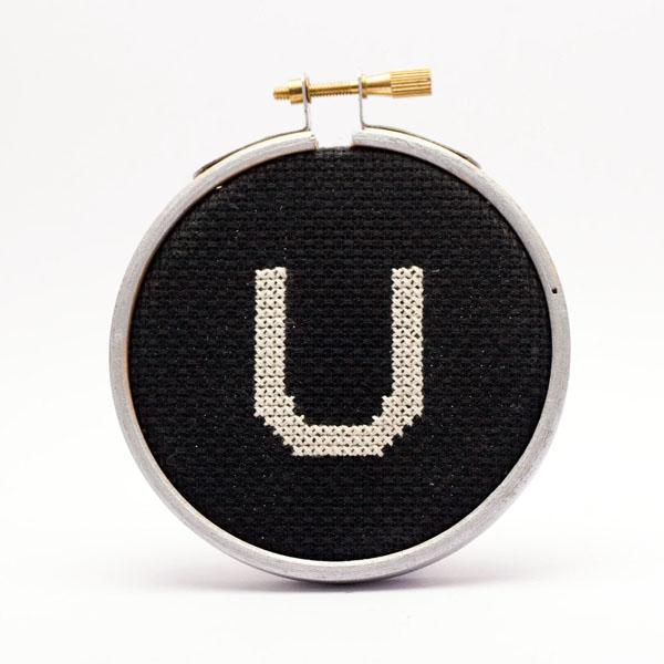 Typewriter key single cross stitch kit