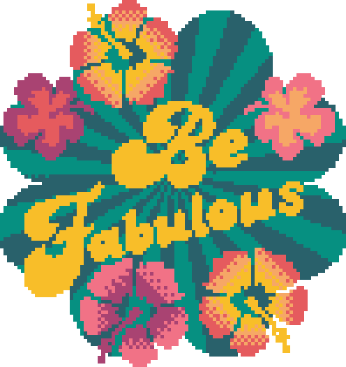 be fabulous cross stitch kit image