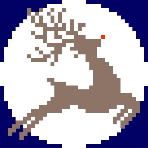 glow in the dark reindeer cross stitch kit image