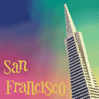 san francisco cross stitch kit image