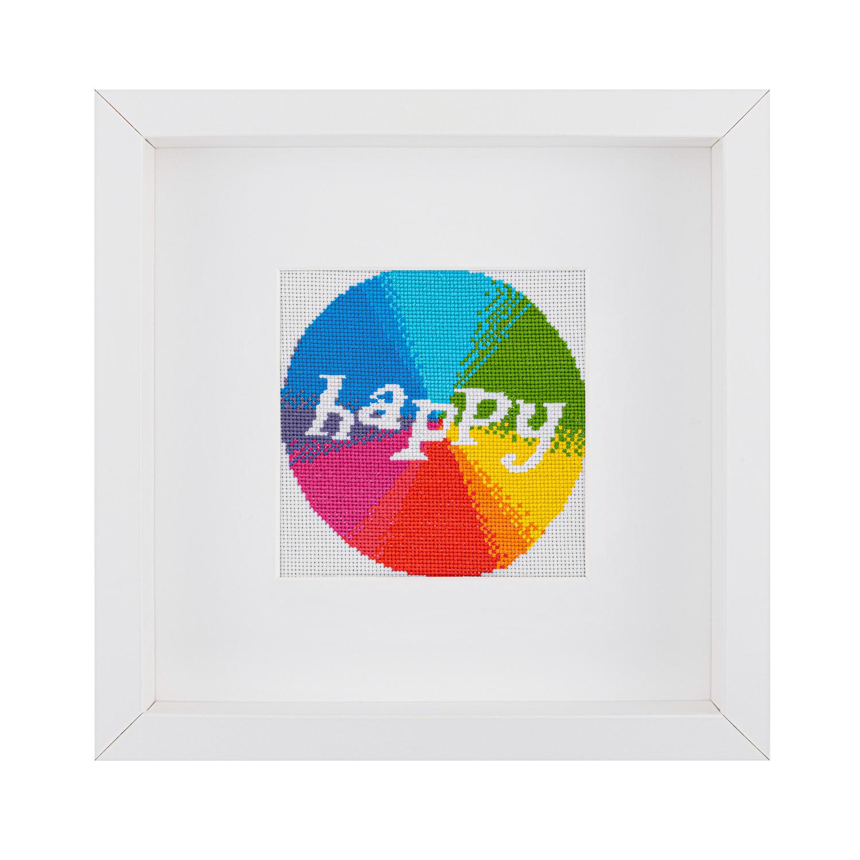 Happy Cross Stitch Kit   STITCHFINITY