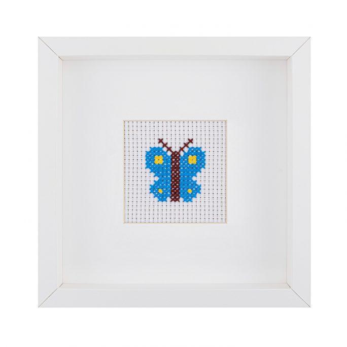 Kids Butterfly Cross Stitch Kit | STITCHFINITY