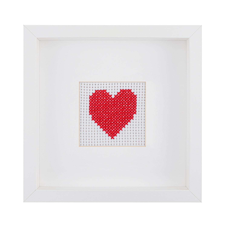 Kids Heart Cross Stitch Kit   STITCHFINITY