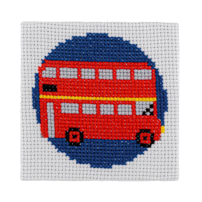 Mini London Bus Cross Stitch Kit | STITCHFINITY