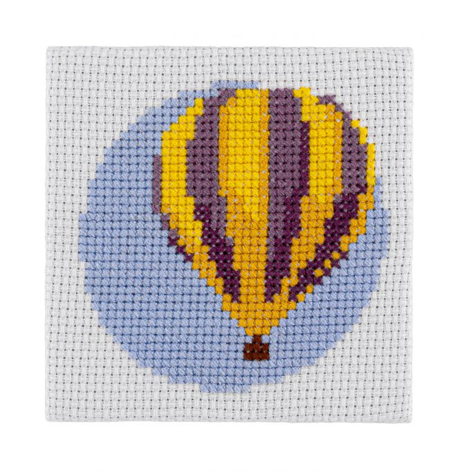 Mini Hot Air Balloon Cross Stitch Kit | STITCHFINITY