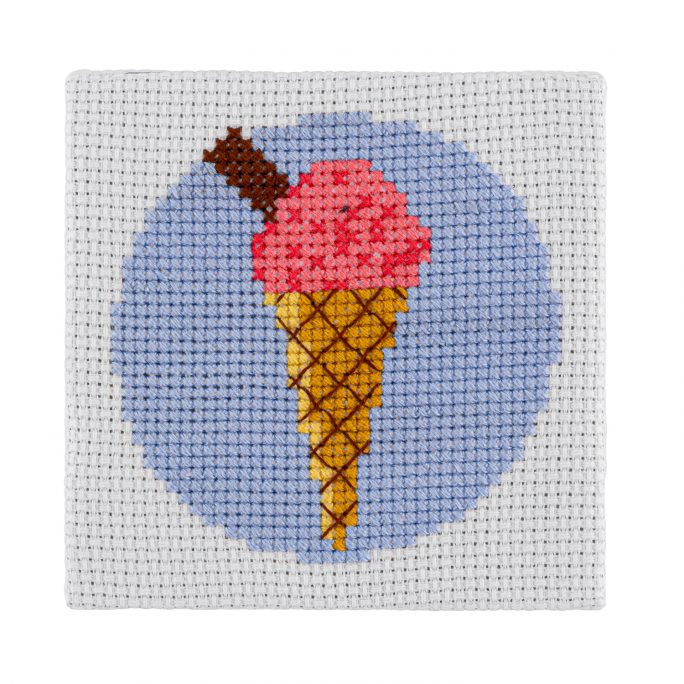 Mini Ice Cream Cross Stitch Kit | STITCHFINITY