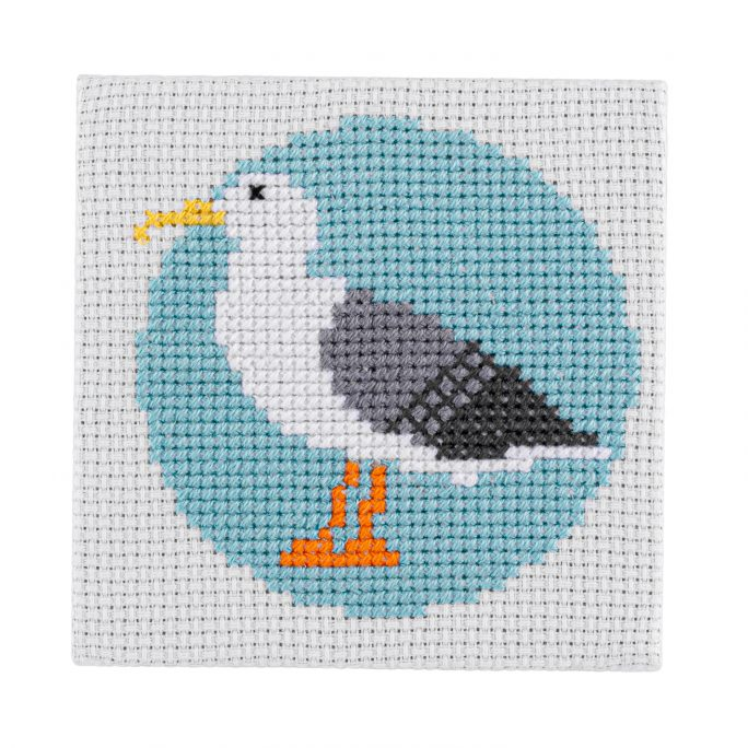 Mini Seagull Cross Stitch Kit | STITCHFINITY