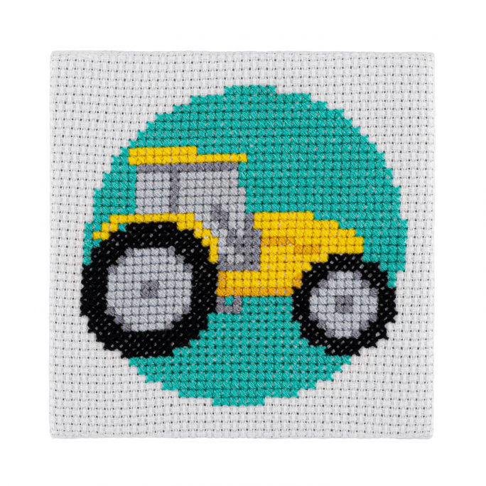 Mini Tractor Cross Stitch Kit | STITCHFINITY