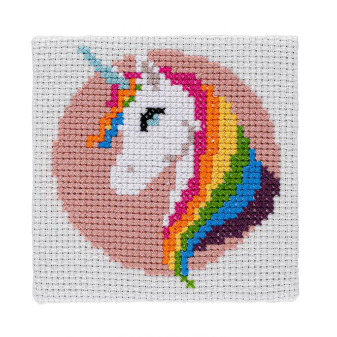 Mini Unicorn Cross Stitch Kit   STITCHFINITY