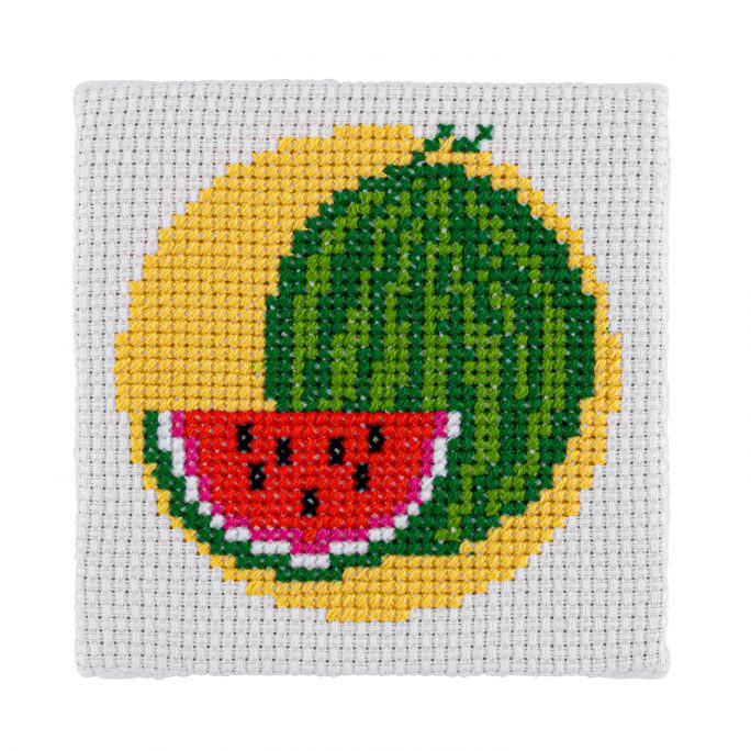 Mini Watermelon Cross Stitch Kit | STITCHFINITY