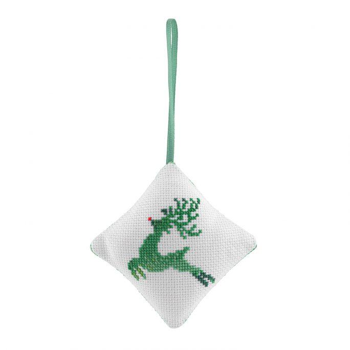Reindeer Bauble Cross Stitch Kit | STITCHFINITY