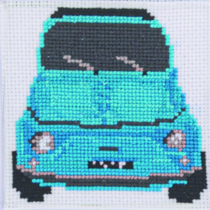 Cinquecento Turquoise Cross Stitch Kit   STITCHFINITY